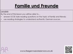 12 Question Quiz On The Topic Of Family Friends Gcse Reading Skills Practice Using Authentic Resou Reading Skills Practice Reading Skills Reading Strategies