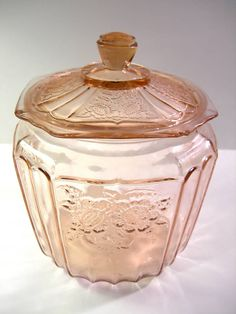 Pink Anchor Hocking Mayfair Rose Depression Glass