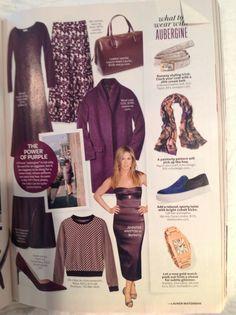 InStyle September 2014 - purple coat