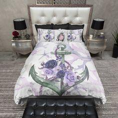 Bird Flower and Skull Duvet Bedding Sets Comforter Cover, Duvet Bedding Sets, Duvet Cover Sets, Throw Pillow Covers, Comforters, Pink Bedding, Skull Bedroom, Bedroom Decor, Bedroom Ideas