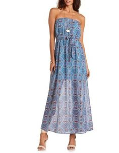 belted maxi tube dress