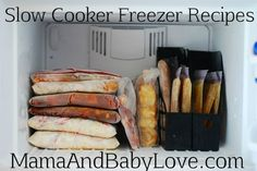 From Your Freezer To Your Family. Slow Cooker Freezer Recipes for Every Season. Slow Cooker Freezer Meals, Crock Pot Freezer, Slow Cooker Recipes, Crockpot Meals, Slow Cooking, Freezer Cooking, Skillet Cooking, Crock Pot Recipes, Freezer Recipes
