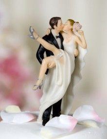 Kissing Over the Threshold Wedding Cake Topper