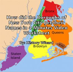 Boroughs Of New York City in 4 Minutes Video Worksheet by History Wizard