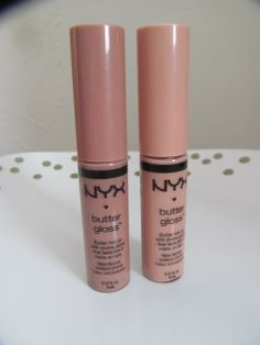 NYX Butter Glosses in Madeline and Fortune Cookie