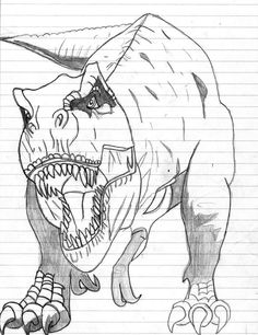 How To Draw A Tyrannosaurus Rex, Step by Step, Dinosaurs