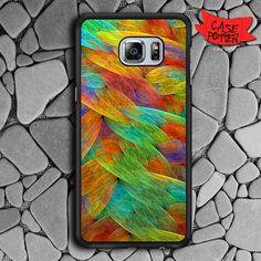 Feathers Of The Rainbow Bird Samsung Galaxy S7 Edge Black Case