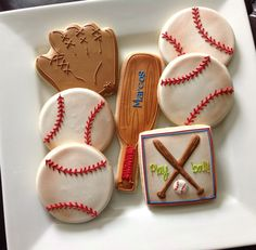 1 Dozen Baseball /sports themed cookies by NatSweetsCookies, $38.00
