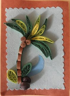 A coconut tree by Thusitha Ariyaratne on Quilling Cafe.