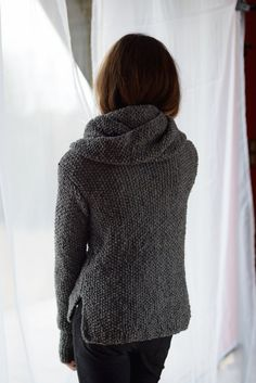 Gray sweater and gray shawllong by Isabellwoolstudio on Etsy