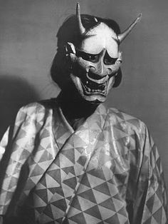 the japanese noh hannya (般若) mask represents a female serpent-demon filled with malicious jealousy and hatred.