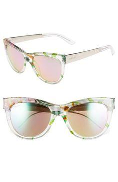a58325aa030f Gucci  Flora  55mm Retro Sunglasses