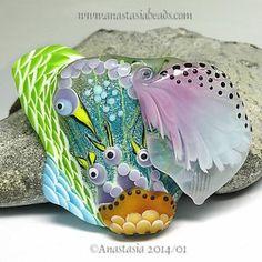 "Anastasia Lampwork Bead 1 Focal ""Mommabird XVII"" SRA | eBay http://www.ebay.com/itm/261385357976?ssPageName=STRK:MESELX:IT&_trksid=p3984.m1555.l2649"