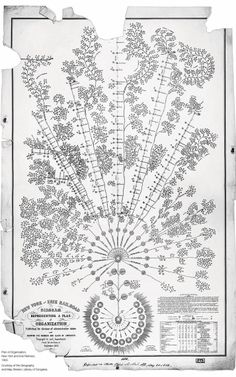 The New York & Erie Railroad Diagram Representing A Plan Of Organization Exhibiting The Division Of Administrative Duties And Showing The Nu...