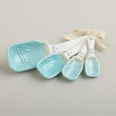 One of my favorite discoveries at WorldMarket.com: Mason Jar Ceramic Measuring Spoons