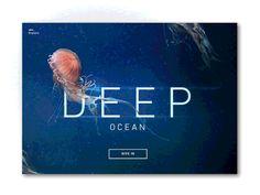 Deep ocean introduction by Bilal ramotion.com #webdesign #inspiration #UX #UI #interface #startup #designer #design #photoshop #web #dribbble #behance #ramotion