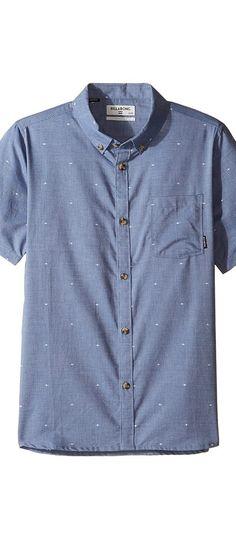 Billabong Kids Venture Short Sleeve Shirt (Big Kids) (Blue) Boy's Short Sleeve Button Up - Billabong Kids, Venture Short Sleeve Shirt (Big Kids), B507JVEN-BLU, Apparel Top Short Sleeve Button Up, Short Sleeve Button Up, Top, Apparel, Clothes Clothing, Gift, - Fashion Ideas To Inspire
