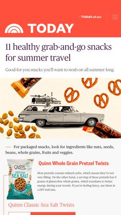 Most pretzels contain refined carbs, which means they're not very filling. On the other hand, a serving of these pretzels has 9 grams of gluten-free whole grains, which translates to better energy during your travels. If you're feeling fancy, use them in a DIY trail mix. Foods That Contain Protein, Gluten Free Pretzels, Healthy Travel Snacks, Cheese Snacks, Gluten Intolerance, Snack Box, Baby Carrots, 100 Calories, Plant Based Protein