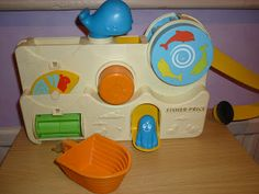 Whilst searching the loft at Mum & Dads house for Mister A's baby bouncer I came across a bag of old toys. Fisher Price Toys, Vintage Fisher Price, Childhood Toys, Childhood Memories, Vintage Bathtub, Kids Growing Up, 80s Kids, Top Toys, Bath Toys