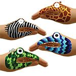 Look what I found at UncommonGoods: animal monster hand tattoo sets. Monster Hands, Reptile Party, Stocking Stuffers For Kids, Fun Express, Safari Party, Jungle Party, Jungle Theme, Tattoo Set, Hand Puppets