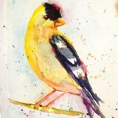 Sol familia y Pajaritos taller de Daniel Pito Campos #watercolor #painting #Córdoba  #bird