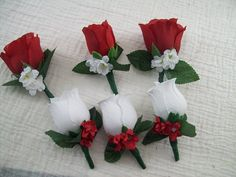 Red And White Wedding Decorations, Red And White Weddings, Diy Wedding Flowers, Bridal Flowers, Red Wedding, Silk Flowers, Wedding Bouquets, Wedding Ideas, Prom Flowers