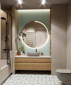 Home Room Design, Home Interior Design, House Design, Bathroom Design Luxury, Modern Bathroom Design, Vanity Design, Apartment Design, Bathroom Inspiration, Small Bathroom