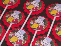 (K) 12 Max and Ruby Cupcake Picks by ThePookieShop on Etsy, $5.00
