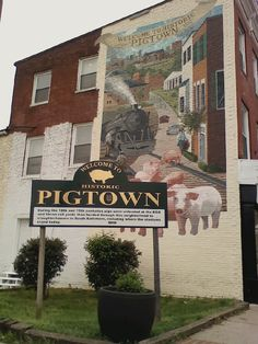 Pigtown was founded from the grounds f the Mt. Clare Plantation.  It housed one of the first pig iron foundries, hence the name.  Due to its location near University of MD and proximity to I-95 it has always been popular. homesellerjenny.com