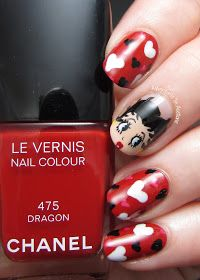 Vintage Betty Boop nails