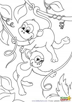 Free monkey pop up card template