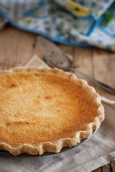 Buttermilk pie in a cornmeal & lard crust by Beth Kirby | {local milk}, via Flickr