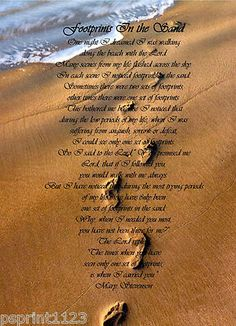 footprints in the sand poem plaque | footprints-in-the-sand-sign-quality-metal-plaque-a5-a4-wall-art-6164-p ...
