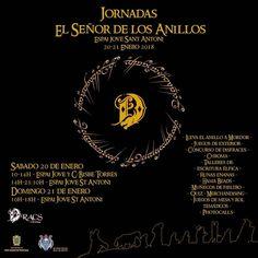 Jornadas El Señor de los Anillos en Sant Antoni (Ibiza) el 20 y 21 de enero