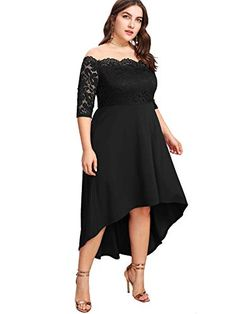 2a9a4f8fce3 Beautiful Floerns Floerns Women s Plus Size Vintage Lace Dip High Low  Cocktail Party Dress womens dresses
