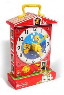 Music Box Teaching Clock 1968 | Springtime & Easter | Fisher Price Classic Toys |014397016988