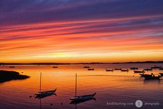 Sunset | Barnstable Harbor, Cape Cod, Boston, Massachusetts