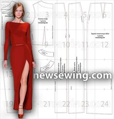 Ready evening dress pattern You can translate this, I would line the bodice rather than use the facing pieces.