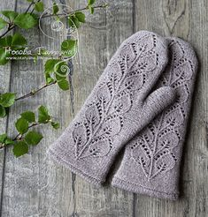 Ravelry: Frozen leaves mittens pattern by Tatyana Nosova
