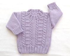 Rebeca 6-12 meses bebé del knit del bebé por LurayKnitwear