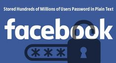 "Holy moly, Facebook is again at the center of a new privacy controversy after revealing today that its platform mistakenly kept a copy of passwords for ""hundreds of millions"" users in plaintext.   What's more? Not just Facebook, Instagram users are also affected by the latest security incident. Hack Facebook, Facebook Store, Facebook Users, Free Facebook, Facebook Instagram, Instagram Users, Password Manager, Image T, Social Media Company"