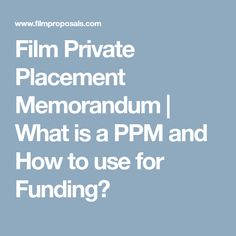 The Important Source Of Funding Is Private Placement Market Both