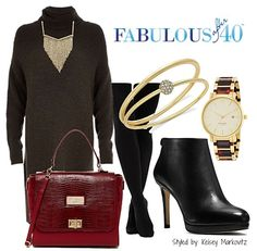 Throw a Sweater Dress Over a Pair of Leggings | Fabulous After 40