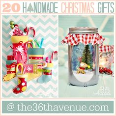 Handmade Christmas Gifts that everyone will love! the36thavenue.com