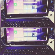 """Quite enjoying the new #windows10 . #laptop #purple #black #purple #bat #bats #alternative #gothic #goth #dark"""
