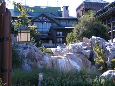 The Wilderness Lodge. The rocking chairs and fireplace in the lobby are fantastic!