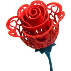Printed Everlasting Rose for Valentine's Day. Show that special someone how much they mean to you with the Printed Everlasting Rose. This intricately-detailed uniquely-designed Everlasting Rose is a special gift that was m 3d Printing News, 3d Printing Diy, 3d Printing Service, 3d Printing Technology, Nerdy Valentines, Valentine Day Cards, Print 3d, 3d Templates, Stylo 3d