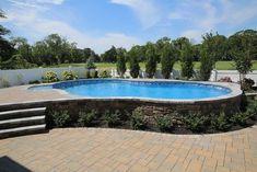 Semi Inground Pool Ground Pools Swimming
