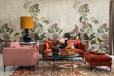 Looking for a floral wallpaper? Free worldwide delivery and wallpaper paste included. We have a wide collection of stunning floral wallpapers. Wallpaper Paste, Adhesive Wallpaper, Rose Wallpaper, Wall Wallpaper, Rebel, Estilo Tropical, Grey And Coral, High Quality Wallpapers, Other Space