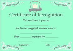 Certificate of recognition contest certificate of recognition certificate of academic recognition template yelopaper Choice Image